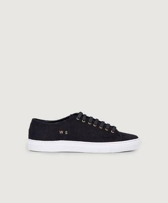 William Strouch Sneakers Courduroy Sneaker Svart