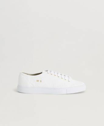 William Strouch Sneakers Courduroy Sneaker Vit