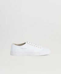 William Strouch Sneakers Classic Leather Sneaker Extra Laces Vit